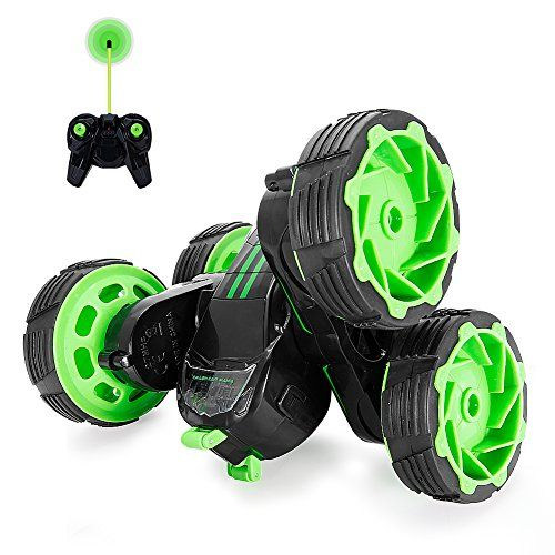 RC+Cars+Off-Road,+4WD+Remote+Control+Car+Rotate+360+Double+Sided+Stunt+Monster+Truck,+MakeTheOne+Indoor+Outdoor+Toy+Cars+for+Boys+Girls+,+Unstoppable+Electric+Race+Truggy+RTR+High+Speed