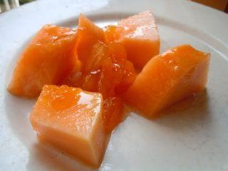 Summer in a Jar - Cantaloupe and Peach Preserves Recipe: Fresh cantaloupe served with cantaloupe and peach preserves