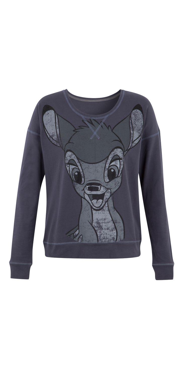 sweat gris fonc imprim bambi undiz