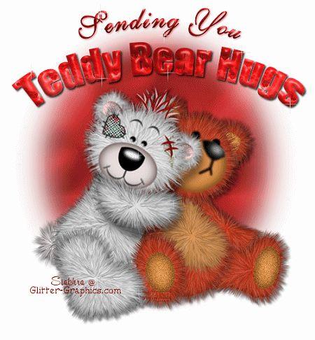 Sending you Teddy Bear Hugs friendship glitter hugs friend friend quote graphic friend animated