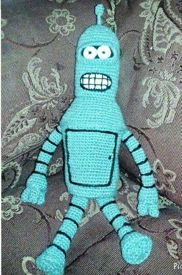 Bender amigurumi a crochet