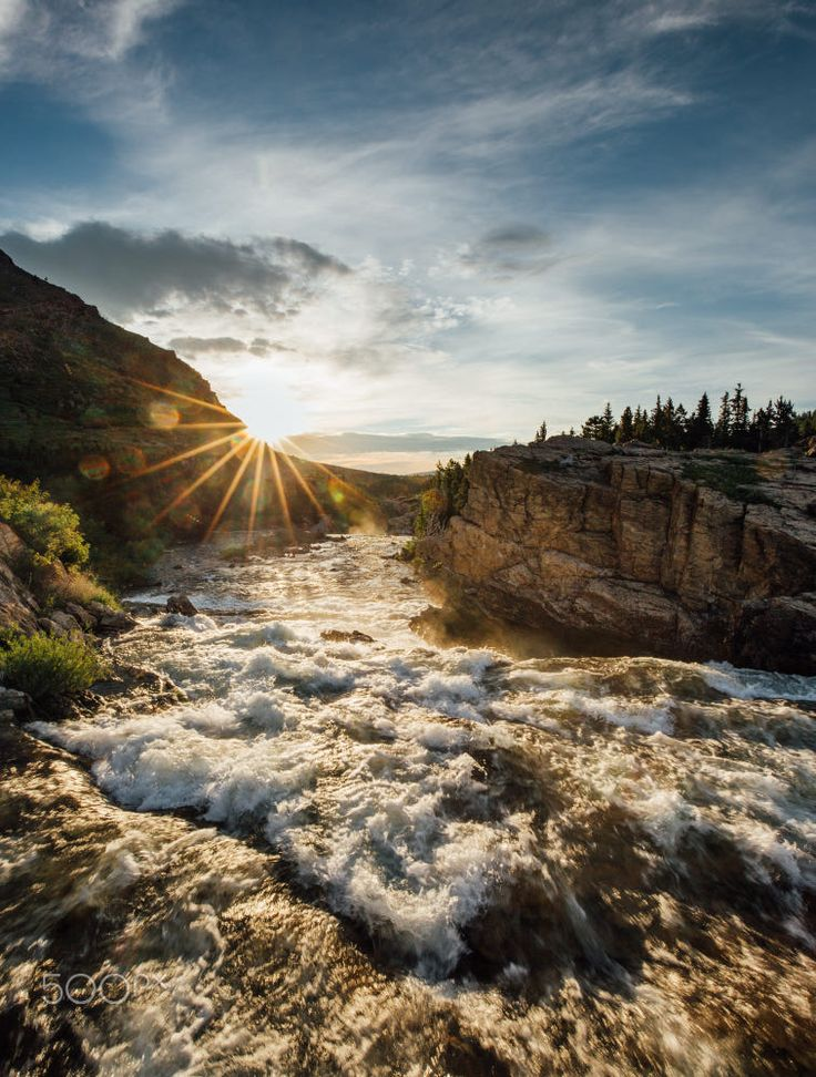 Sunrise at Glacier National park - Montana by Nitish Kumar Meena on 500px