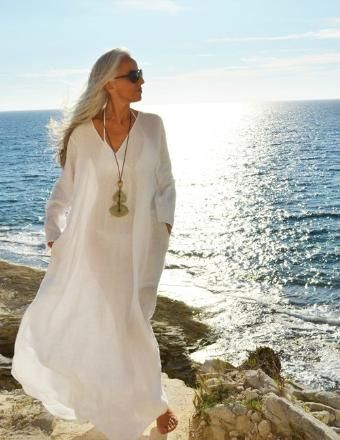 Yasmina...forever graceful...modeling took off in her forties. (She's now 58)..,feels better about the way she looks now.
