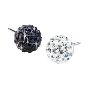 Blomdahl titanium crystal ball stud earrings