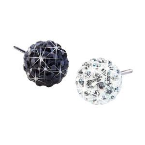Blomdahl titanium crystal ball stud earrings