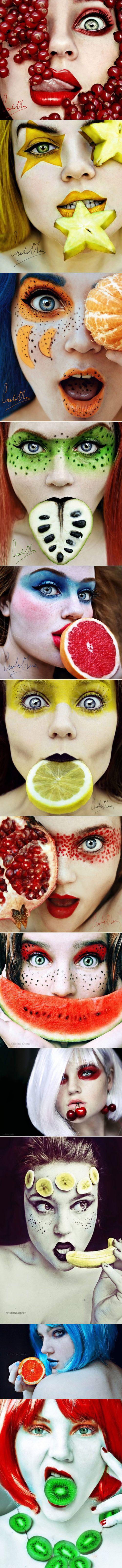 Tutti Frutti Self Portraits By Cristina Otero - #art #photography #portrait…