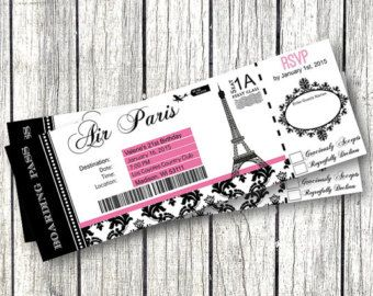 Pink and Black Damask Paris Theme Birthday Party by PinkPopRoxx