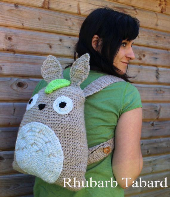 Totoro backpack  Totoro bag A4 bag fan fashion