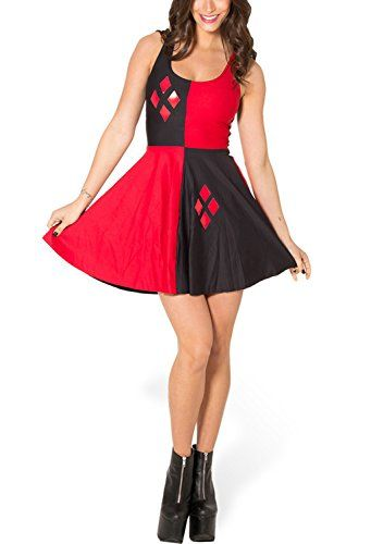 Lady Queen Women's Harley Quinn Scoop Skater Dress Clubwear Ball Party Skirt Size M Black Red Lady Queen http://www.amazon.com/dp/B013SK1QKQ/ref=cm_sw_r_pi_dp_wuhgwb0XGV5FN