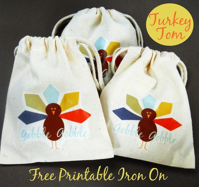 Delightfully Noted: Free Printable Thanksgiving Iron On Transfer {Meet Tom}