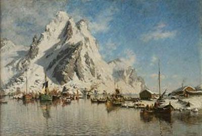 Gunnar Berg (1863-1893): Vintermorgen i Svolvær