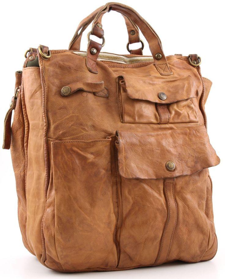 Campomaggi Lavaggio Stone Tote Leather nature 38 cm - C1247VN-1107 - Designer Bags Shop - wardow.com