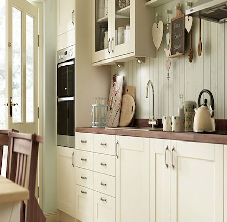Wickes Kendal Cream Shaker Kitchen.  Kitchen-compare.com - Home - Independent Kitchen Price Comparisons
