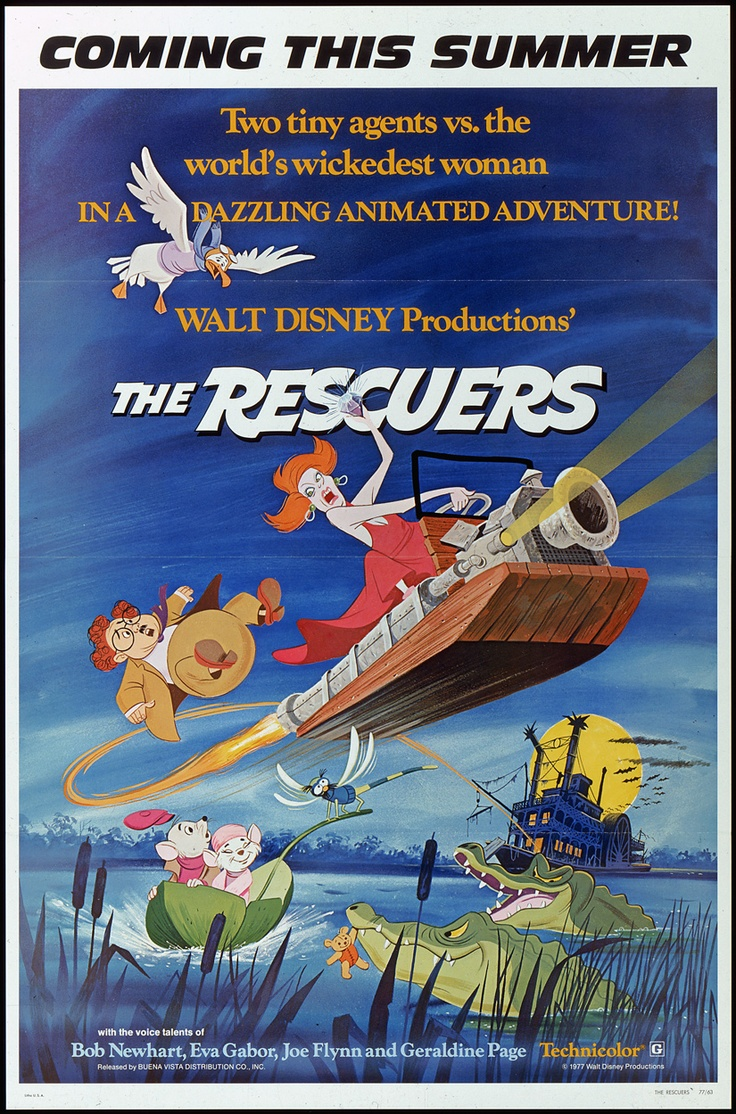 The Rescuers - loved this movie growing up.  Saw it several times in a Movie theatre, long before video, pay-per-view and DVDs.