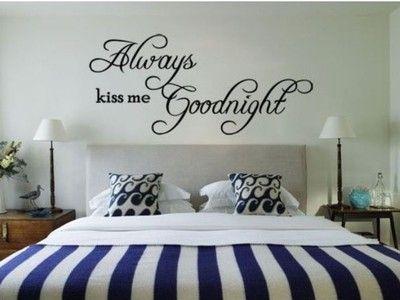 Sticker decorativo ideal para decorar cabeceros. Una bonita frase para tu lugar de descanso.