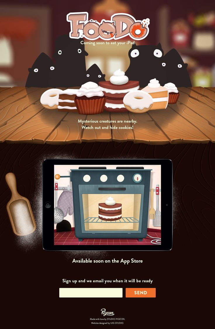 FooDo - landing page for iPad game
