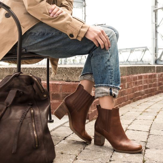 Shop Timberland for Atlantic Heights women's Chelsea boots: The sleekest winter heels you'll wear.