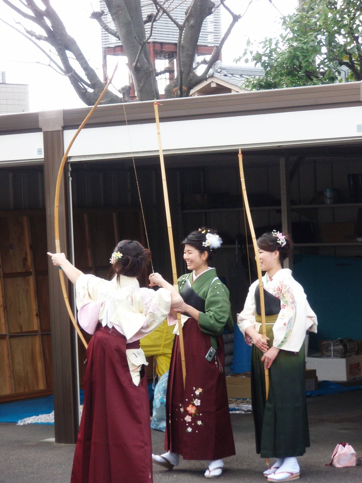 Coming of Age Day archery competition at Sanjusangen-dou 三十三間堂, Kyoto, Japan.