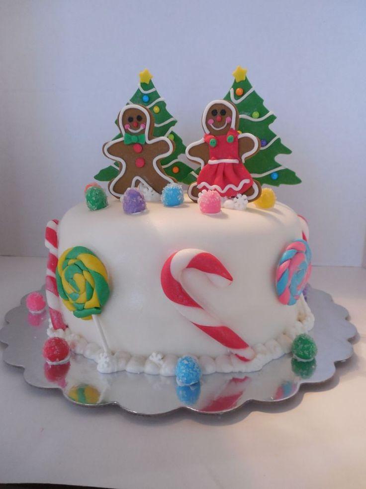 Candy Land Christmas Cake