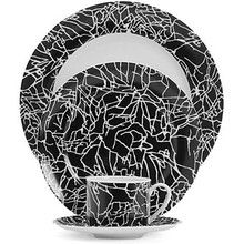 White on Black Dinnerware | Designed by Kelly Wearstler for Pickard
