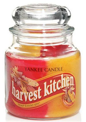 Swirl Harvest and Kitchen Spice Candle Medium Jar by Yankee Candles