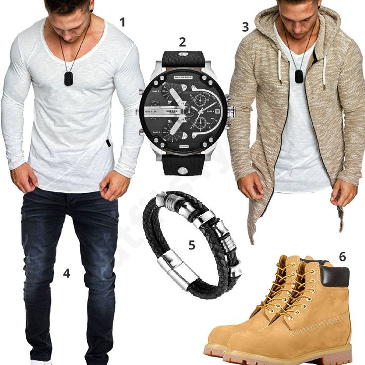 Herren-Outfit mit beigen Timberland Combat Boots (m0609) #diesel #timberland #armband #outfit #style #fashion #menswear #herren #männer #shirt #mode #styling #sneaker #menstyle #mensfashion #menswear #inspiration #shirt #cloth #clothing #ootd #herrenoutfit #männeroutfit