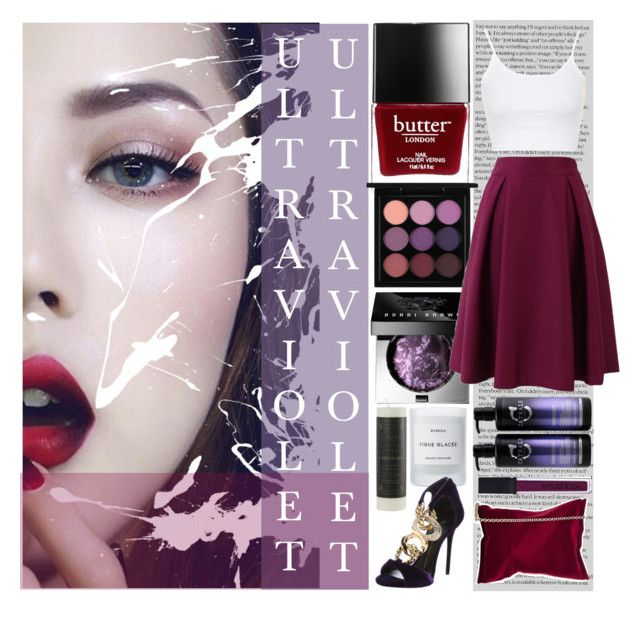 ULTRAVIOLET by counterkitty on Polyvore featuring polyvore, fashion, style, Topshop, Giuseppe Zanotti, Anya Hindmarch, MAC Cosmetics, Bobbi Brown Cosmetics, Smashbox, Butter London, Byredo, TIGI and clothing