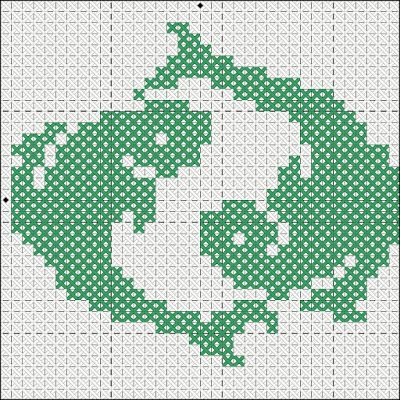"""Вышивка крестом. Схема. Знак зодиака """"Рыбы"""""""