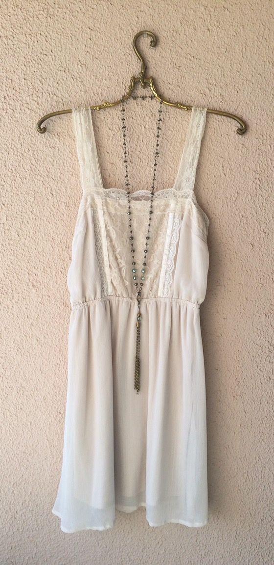 Image of Free People   lace bohemian Paris boudoir slip dress