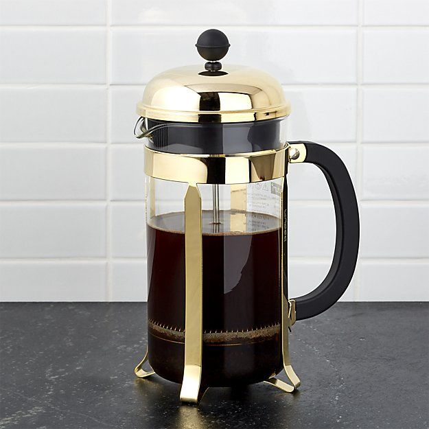 Bodum ® Chambord Gold 34-Ounce French Press | Crate and Barrel