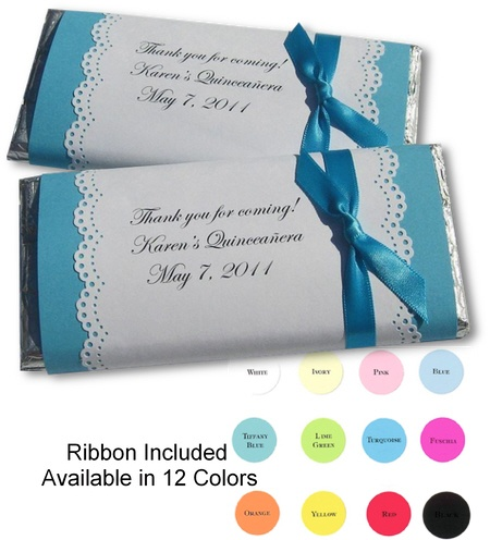 Personalized Candy Bar Wrappers, these would be cute as favors.