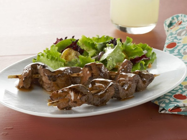 Recipes  Appetizers Caramelized Beef Skewers Kraft First Taste
