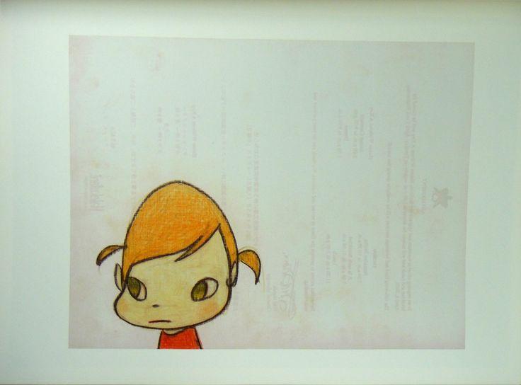 "Amazon.com - Yoshitomo Nara Drawing File #63 Official Art Poster Print Japan Cute Cartoon Animation Wall Décor (11x15"") -"