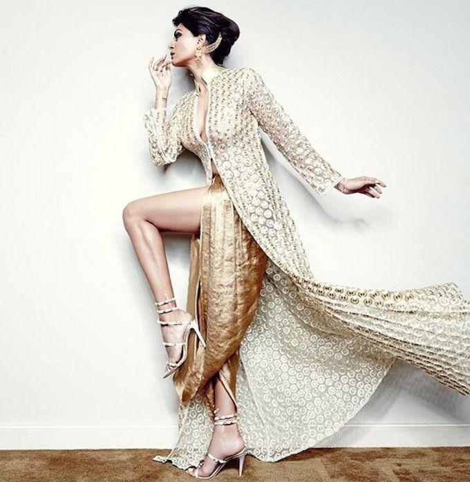 Sushmita Sen in a Nikhil Thampi for Harper's Bazaar Bride.  more love.