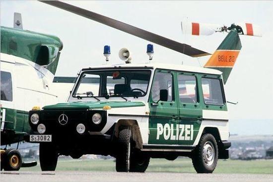 Mercedes G-Modell - Relativ selten steht die Mercedes G-Klasse in Diensten der deutschen Polizei