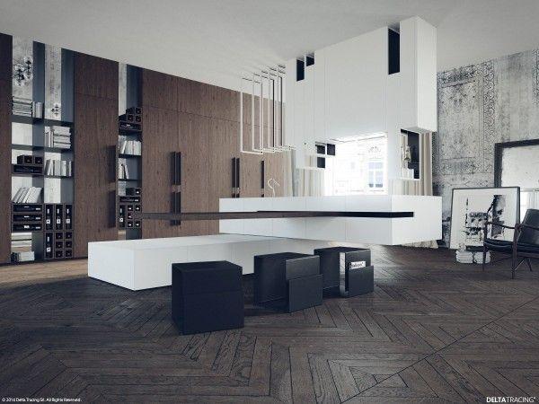Black, White & Wood Kitchens