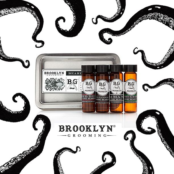 Finally all of our Beard oils in one kit! Enjoy all four scents in 4 dram amber glass vials: 1- .25 oz. Beard Oil in Commando 1- .25 oz. Beard Oil in Williamsburg 1- .25 oz. Beard Oil in Fort Greene 1