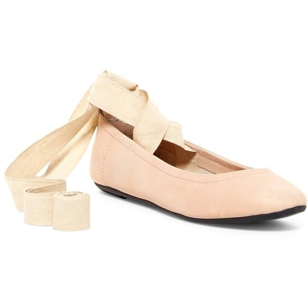 Free People Degas Ballet Flat ($27) ❤ liked on Polyvore featuring shoes, flats, pink, ankle strap flats, ankle strap ballet flats, pink ballet shoes, ballet flat shoes and pink ballet flats