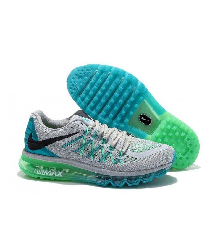 check-out 5fe20 a54ce Homme Nike Air Max 2015 Gris Bleu Vert Noir Chaussures ...