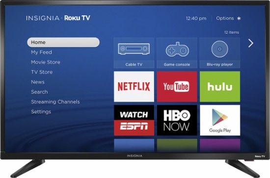 "Insignia™ - 32"" Class (31.5"" Diag.) - LED - 720p - Smart - Roku TV - Front_Zoom"