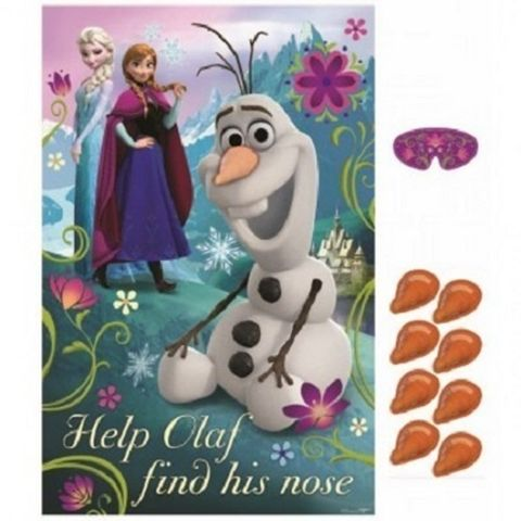 Frozen Disney Pin the Nose on Olaf Birthday Party Game