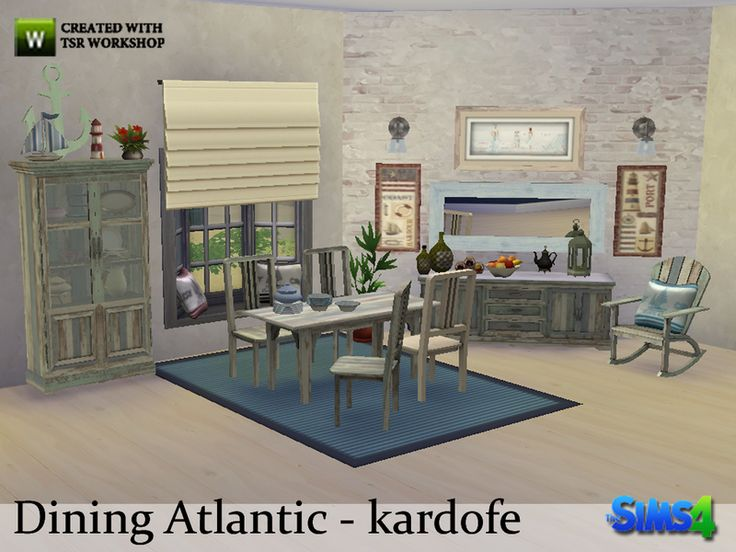 Marine Style Dining Room With Worn Wood Furniture Built By The Sea Found In  TSR Category U0027Sims 4 Dining Room Setsu0027 | S4 / Salle à Manger | Pinterest
