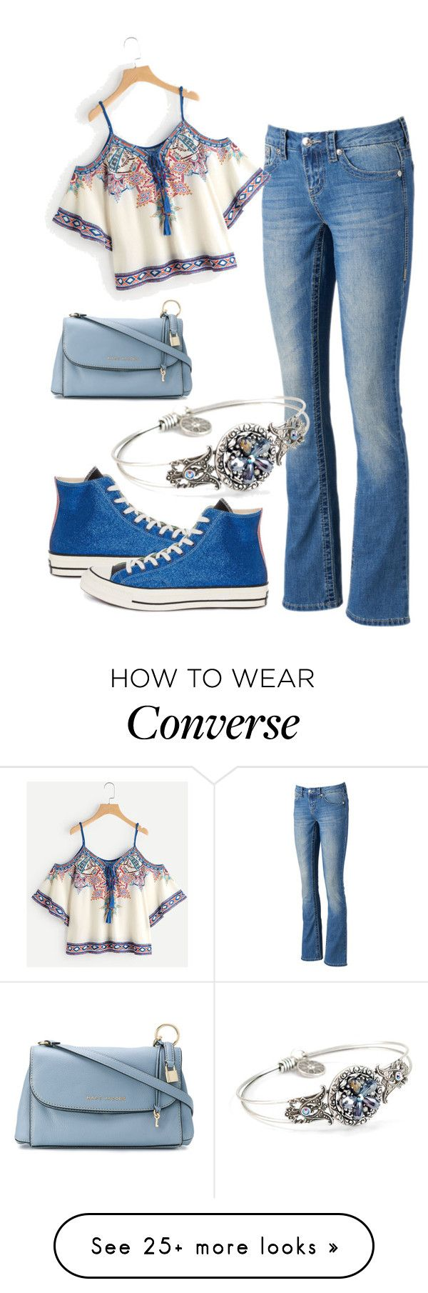 """""""Boho"""" by airsunshine on Polyvore featuring Seven7 Jeans, Converse, Sweet Romance and Marc Jacobs"""