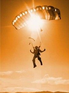 Parachute!! A business project will allow me to jump out of a plane and parachute into a location to do my work. It's true. Can't wait! Scream!!
