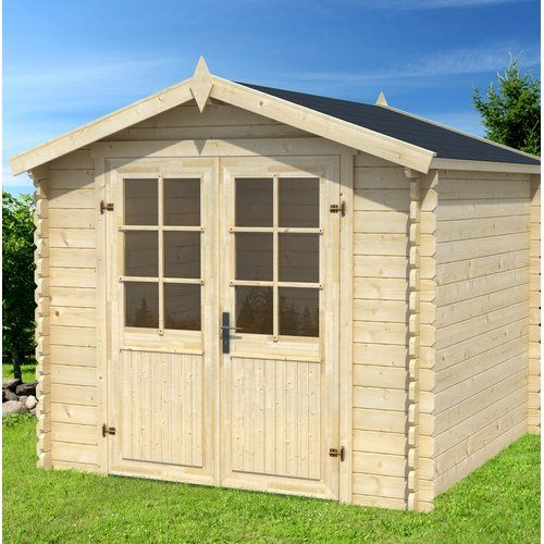Morava 7 5 Ft W X 7 5 Ft D Tongue Groove Apex Solid Wood Garden Shed Lasita Maja Garden In The Woods Shiplap Cladding Corner Summer House