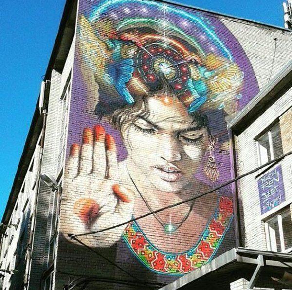 Nuova opera dello street artist #argentinoMartin Ron a Tallinn #Estonia #pureheart