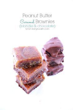 Peanut Butter Caramel Brownies #raw #Vegan #Glutenfree #HealthyRebel #DAMYHealth