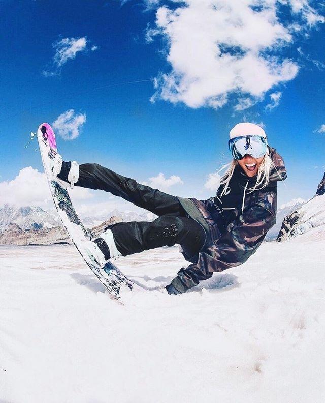 Snowboard girl frozen foto 48