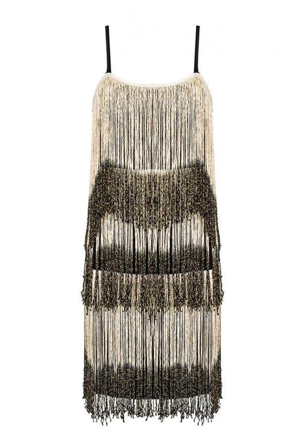 and Gold Fringe Flapper Dress | Gatsby Flapper Bridesmaid Dresses ...