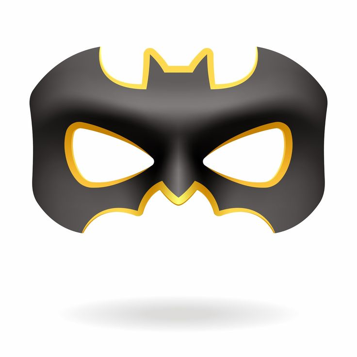 Batman and Batgirl Free Printable Masks.
